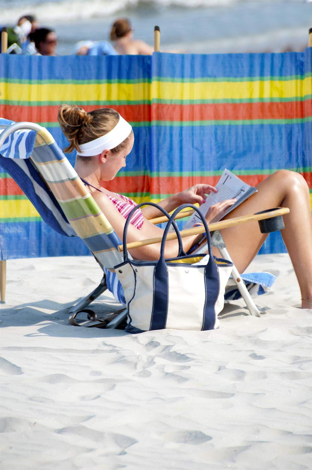 Vinsani® 4, 5, 6, 8, 10 POLE BEACH HOLIDAY CARAVAN CAMPING WINDBREAK TALL WINDBREAKERS 3