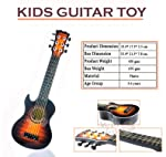Wish key Guitar Toys Fully Functional with Pick, 21 Inch with Wood Finish (6+ Years)