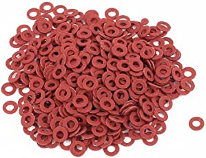Generic Fiber Flat Insulating Washer Ring 2mmx4mmx0.5mm 500Pcs Red for Screws