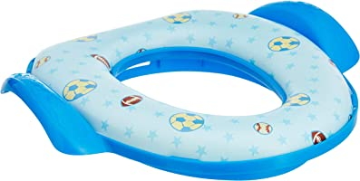 Amazon Brand - Solimo Baby Potty Training Seat with Cushion, Blue