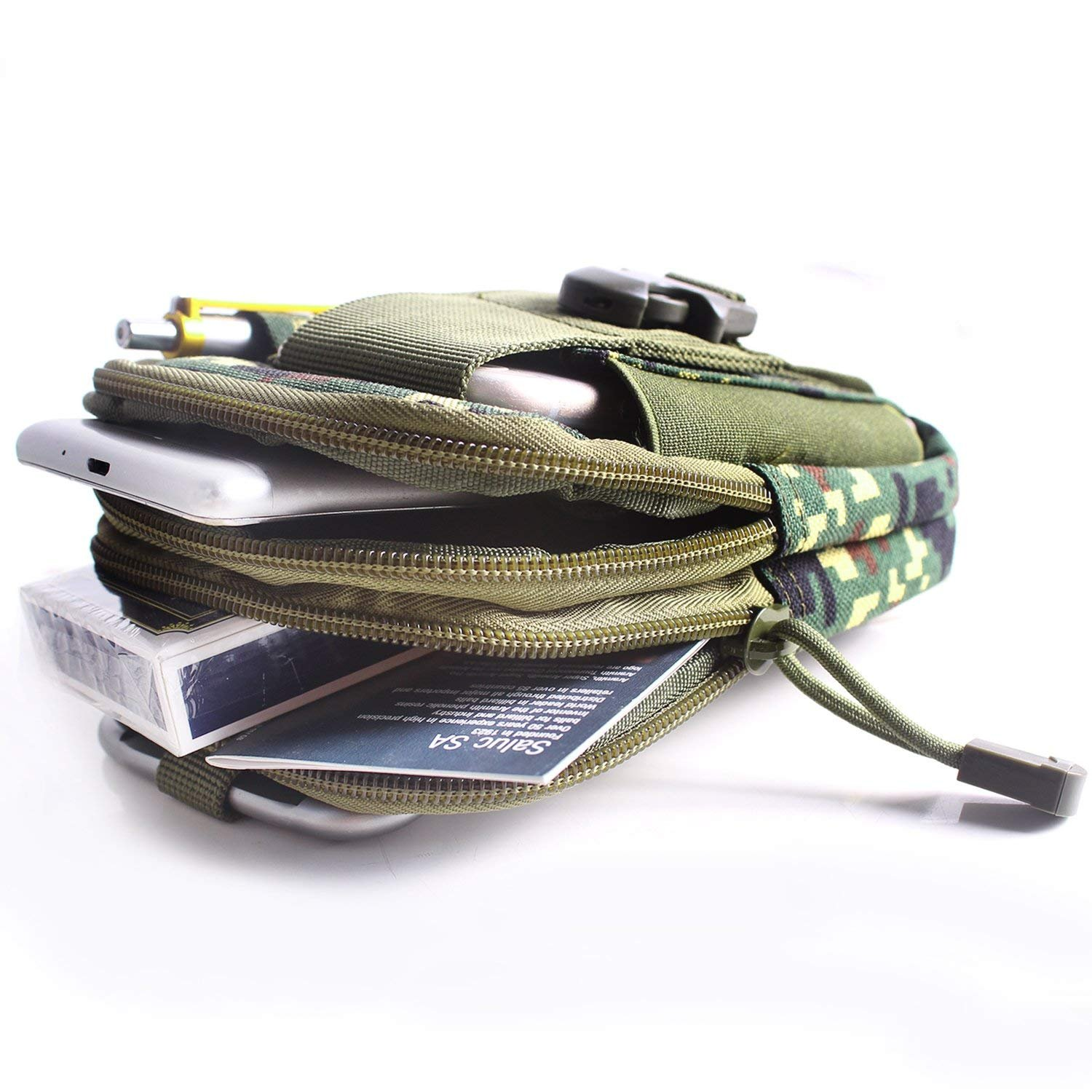 Unigear Molle Pouch Compact EDC Utility Tactical Multi-Purpose Gadget Tool Waist Bag Pack with Extra Aluminum Carabiner