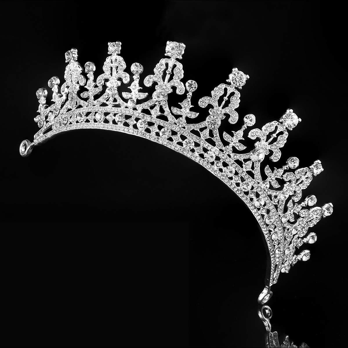 sliver Rosenice..diadem_hochzeit..krone_tiara..braut_strass..haarreifen Braut-accessoires