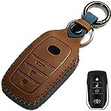 غطاء مفتاح سيارة مخصص، مناسب لتحكم بدون مفتاح لـ 2017-2020 RAV4 Camry Corolla C-HR هايلاندر تاكوما هايلاندر 4Runner Tundra Pr
