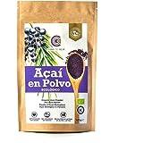 Açaí Ecológico en Polvo, Açaí Berry Organic Powder Biológico Orgánico, Bayas de Acai Organico en Polvo. Hecho con la Pulpa de