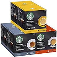Starbucks Pack Variété Black Cup by Necafe Dolce Gusto 6 x 12 capsules (72 capsules)