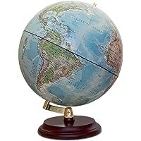 Magellan Vasa Globus mit politischem Kartenbild oder handkaschiert, freistehend ohne Meridian Durchmesser 32 cm, Globus…