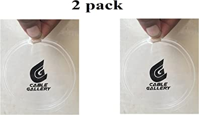 CABLE GALLERY® Cell Phone Pads,Sticky Anti-Slip GEL Pads,can Stick to Glass, Mirrors, Whiteboards, Metal, Kitchen Cabinets or Tile, Car GPS and many more (2 PACK) (2 pack of tranceplant)