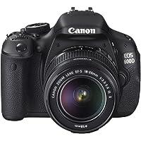 Canon EOS 600D SLR-Digitalkamera (18 MP, 7,6cm (3 Zoll) schwenkbares Display, Full HD, Double-Zoom-Kit inkl. EF-S 18-55…