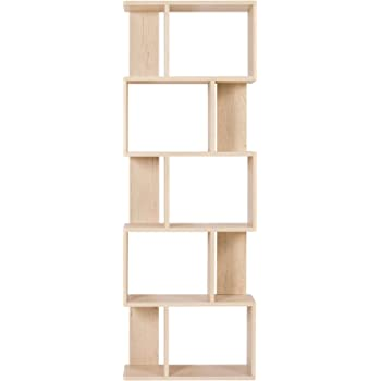 Rebecca SRL Bibliotheque Etageres Bois Chêne Clair Design Contemporain  Sejour Office Maison (Cod. RE4788) 324fcf0bcb31