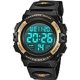 Orologio da Polso Orologi Sport per Bambini Digitale multifunzione Impermeabile LED Luce Allarme Calendario Data con cinturin