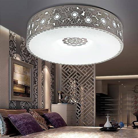 Deckenleuchten für schlafzimmer  JJ Moderne LED Deckenleuchte Rundes, modernes Ambiente Edelstahl ...