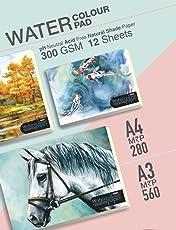 Anupam Water Colur Pad Size: A4-300GSM - 12 Sheets