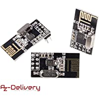 AZDelivery 3 x NRF24L01 mit 2,4 GHz Wireless Module für Arduino, ESP8266, Raspberry Pi mit eBook