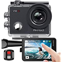AKASO Action Cam, Native 4K WiFi EIS 40M Touch Screen,Telecomando,Custodia Impermeabi,Kit di Accessori di Montaggio(V50…