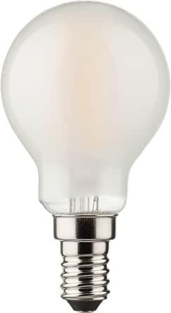 MÜLLER LICHT 400199 A++, Retro LED Lampe Miniglobe, ersetzt, Glas, 4W, E14, Weiß, 4.5 x 4.5 x 7.7 cm