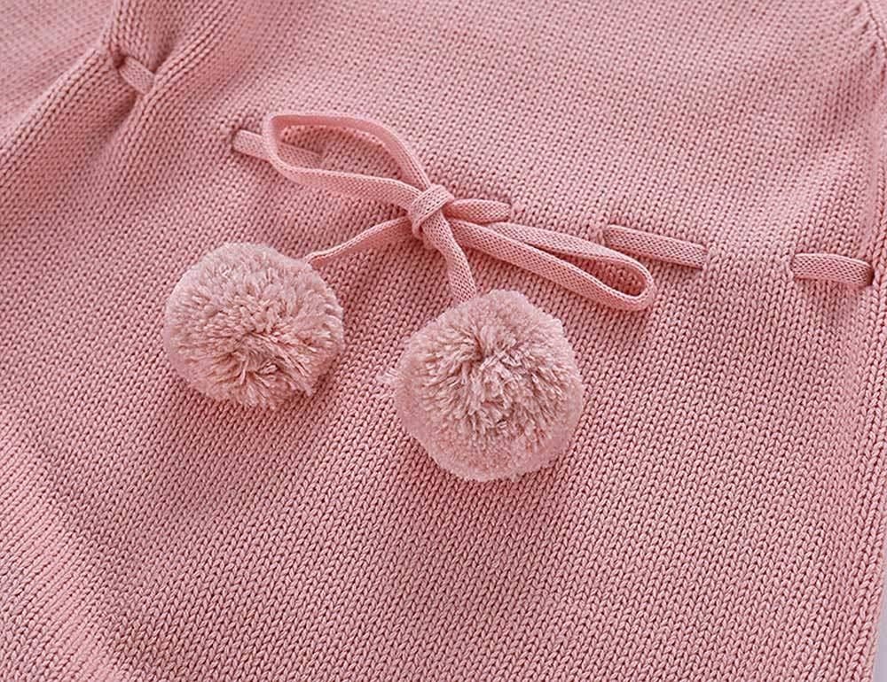 Mitlfuny Unisex Suéter Mameluco Ropa de Punto Invierno Otoño Recien Nacido Bola de Pelo Correa Princesa Camisa Tejer… 3