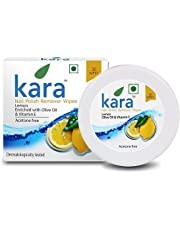 Kara Wipes Nail Polish Remover With Vitamin Removes Nail Polish, Lemon (30 Pulls) x ( Pack Of 2 )