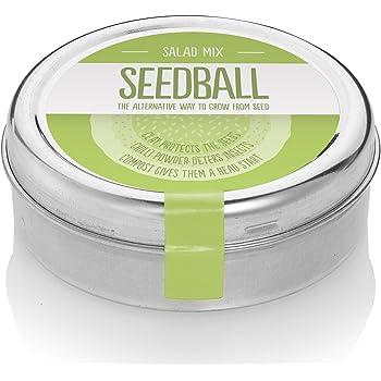 Salad Mix Seed Balls - Coltiva il tuo orto domestico - Insalata greca,cavolo riccio,rucola,senape indiana,brassica rossa (600 semi per latta) GB