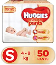 Huggies Ultra Soft Pants Diapers, Small (Pack of 50)