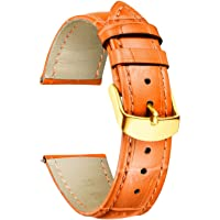 BINLUN Cinturino per Orologio in Vera Pelle di Vitello di Ricambio Cinturino Impermeabile con Motivo Coccodrillo in 10…