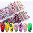10PCS Nagel Sticker, Kalolary Vlinder Herfst Nagels Art Glitters Paillette Stickers Kleurrijke Confetti Sticker Manicure Nage