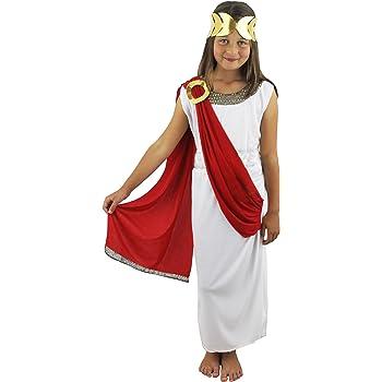 Costume Da Dea Grecaromana Per Bambine Composto Da Vestito Con