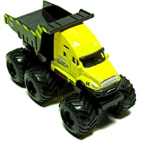 Maisto Fresh Metal Builder Zone Quarry Monster Yellow Dump Truck Motorized 6 Wheeler -Edutoys