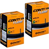 """Continental MTB 29"""" x 1.75-2.5 Mountain Bike Inner Tubes - 40mm Schrader Valve (Pair) - with FREE Ano Adapters"""