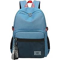 Simple Fashion Women School Bag Waterproof Hiking Backpack Cool Sports Backpack Laptop Bag for Teenager Girls Blue