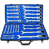 Haskyy 22-delad Spärrnyckel ringskiftnyckel nyckel set I kombination skiftnyckel set 6-32 mm