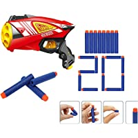 Toyshine Auto Reload Gizmo Foam Blaster Gun Toy, Safe and Long Range, 20 Bullets (Best of 6 Years Plus)