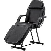 Barberpub beauté lit thérapie lit table de massage Tattooliege beauté chaise équipement de beauté, noir