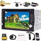 Universal-Doppel-DIN 6.2 Zoll Touch Screen 2 DIN DVD-Spielern Autoradio Radio Auto GPS-Navigation 2din Auto-PC + Wireless hintere viwe Kamera