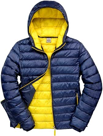 True Face Mens Jacket Padded Super Soft Showerproof Windproof Compact Stowage Slim Fit Hooded Coat