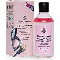 Bella Vita Organic Oil Infused Ayurvedic Micellar Water 225 ml Makeup Remover For Light & Heavy Waterproof Makeup…