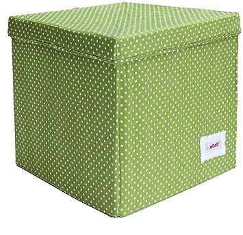 Minene Storage Cube   Green With Spots Star Storage Baskets, Square Storage  Box, Large Fabric Storage Box   Great For Toy Storage, Kids Storage: ...