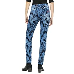 Desigual Stephany Azul Denim Medium Wash 5053 W30 Talla del Fabricante W30 para Mujer