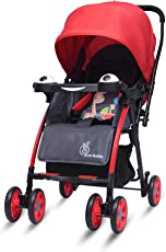 R for Rabbit Poppins (an Ideal Pram) Baby Stroller and Pram for Baby/Kids and Mom (Red Grey Color)