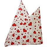 Imbiss- und Partyzubehör Spitztüten aus Papier Motiv: Herzen Länge ca. 19 cm für ca. 125g Inhalt (100 Stück, rot)