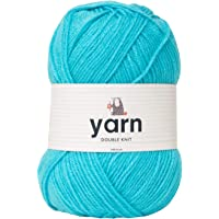Korbond 100g Aqua Blue Double-Knit Acrylic (Available in 27 Colours)-Lightweight, Hypoallergenic & Durable Yarn – Ideal for Jumpers, Blankets, Baby Garments, Furnishings,Weaving, Knitting & Crochet