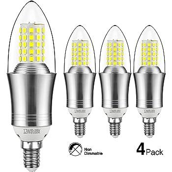 hzsane e14 led kerze leuchtmittel 12w entspricht 100w gl hbirnen 6500k tageslicht wei. Black Bedroom Furniture Sets. Home Design Ideas
