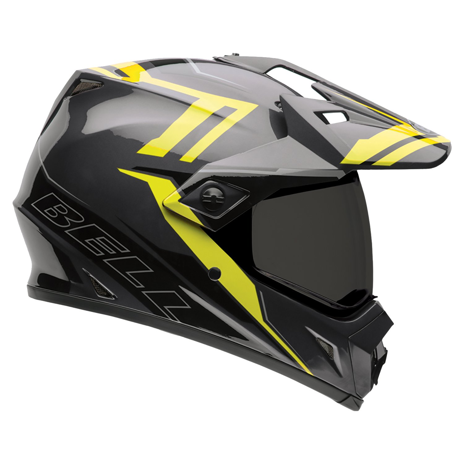 Bell Caschi MX 2015 MX-9 SolidHigh Visiblity Adventure Adult Casco, Matte Barricade, M