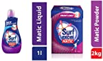 Surf Excel Matic Front Load Liquid Detergent - 1.02 L and Surf Excel Matic Front Load Detergent Powder, 2 kg