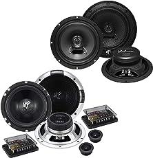 HIFONICS Front/Heck 16,5cm/165mm Auto Lautsprecher/Boxen/Speaker Komplett-Set für Skoda
