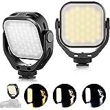 VL66 Luz de video LED Temperatura de Color Luz de Cámara Luz de bolsillo Compacta Giratoria de 360 ° con luz suave Compatible