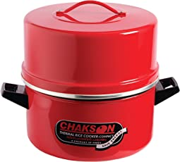 KITEX Induction Based Aluminum Non Sticky Choodarapetty Rice Cooker, 6 L, Red and White
