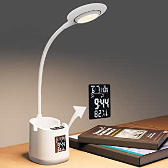 FGHTL Lampe Bureau Charge USB Lampe Table, Éclairage LED