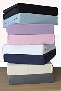 SleepyNights Egyptian Cotton Cot Bed Fitted Sheet 70 x 140 cm Black