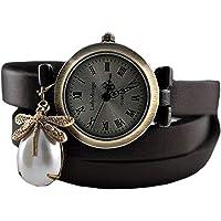 """Libelle""II Echtleder Armbanduhr - Geschenk für Sie - Schmuck-Geschenk - Handmade Geschenk"