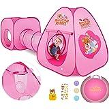 Peradix Tenda da Gioco,3 in 1 Pop Up di Tenda e Tunnel da Gioco Bambini Tenda Giocattolo Tunnel Bambino Ball Pool per Bambini